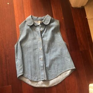 American Apparel denim vest shirt